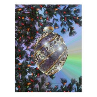 Bulbo de cristal del oro púrpura tarjeta postal