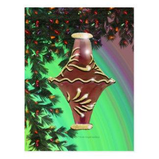 Bulbo de cristal del oro rojo tarjetas postales