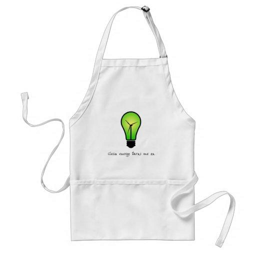 Bulbo de la energía limpia - delantal