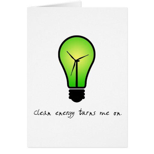 Bulbo de la energía limpia - tarjeta