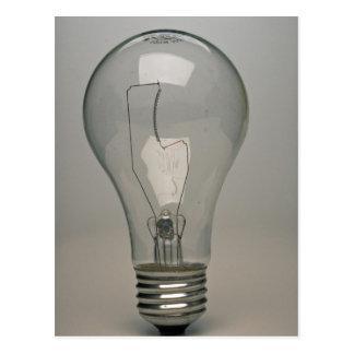 Bulbo de la luz eléctrica tarjeta postal