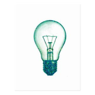bulbo de lámpara del pixel postales