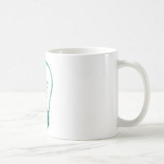 bulbo de lámpara del pixel taza de café