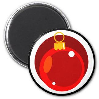 Bulbo del árbol de navidad imán redondo 5 cm