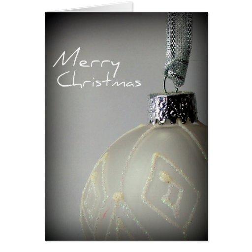 Bulbo del navidad blanco tarjeta