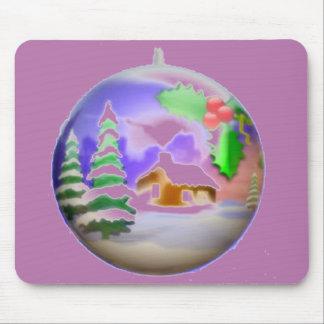 Bulbo del navidad alfombrilla de ratón