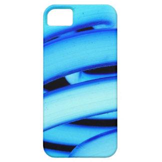 Bulbo rizado de neón azul de CFL iPhone 5 Case-Mate Cobertura