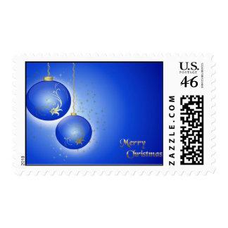 Bulbos azules del navidad