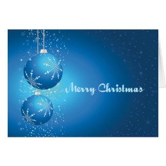 Bulbos azules tarjeta de felicitación