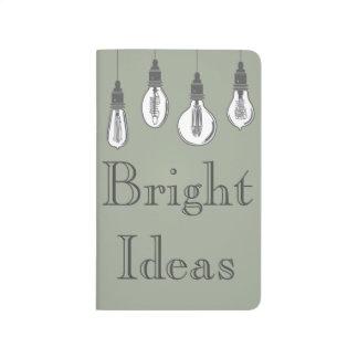 Bulbos brillantes de Edison de las ideas Cuadernos