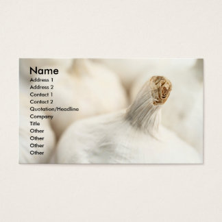 Bulbos del ajo tarjeta de negocios