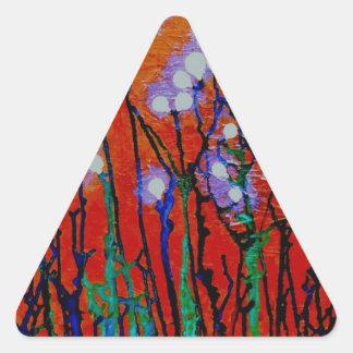 Bulbos del diente de león pegatinas trianguladas personalizadas