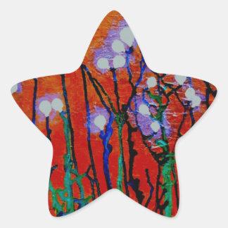 Bulbos del diente de león pegatinas forma de estrella personalizadas