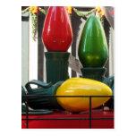 Bulbos enormes del navidad tarjetas postales