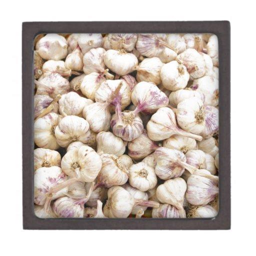 Bulbos italianos del ajo caja de regalo de calidad