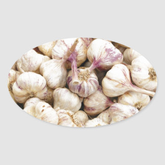 Bulbos italianos del ajo pegatina de ovaladas