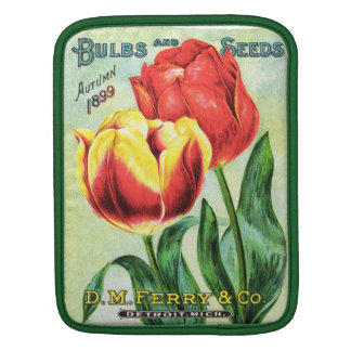 Bulbs and Seeds Red and Yellow Tulip iPad Sleeves
