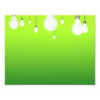 """Bulbs 4.25"""" X 5.5"""" Invitation Card"""