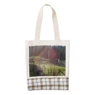 Bulding and sheep zazzle HEART tote bag