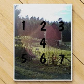 Bulding y ovejas calendario de adviento