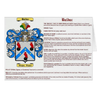 Bulduc (meaning) card