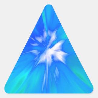 Bule Ice burst Triangle Sticker