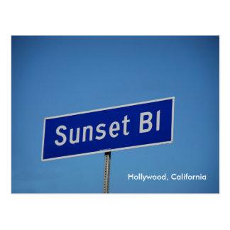 Bulevar de la puesta del sol, Hollywood, Postales