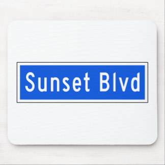Bulevar de la puesta del sol, Los Ángeles, placa Alfombrilla De Ratón