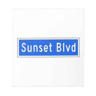 Bulevar de la puesta del sol, Los Ángeles, placa Blocs