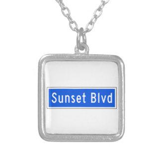 Bulevar de la puesta del sol, Los Ángeles, placa Collar Personalizado