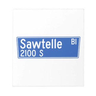 Bulevar de Sawtelle, Los Ángeles, placa de calle Blocs De Notas