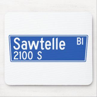 Bulevar de Sawtelle, Los Ángeles, placa de calle Tapetes De Raton