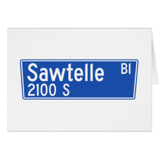 Bulevar de Sawtelle, Los Ángeles, placa de calle Tarjeta De Felicitación