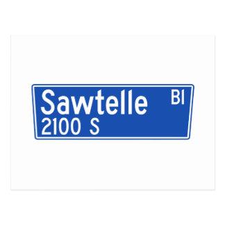 Bulevar de Sawtelle, Los Ángeles, placa de calle Tarjeta Postal