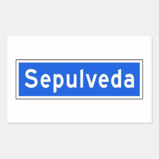 Bulevar de Sepulveda, Los Ángeles, placa de calle Pegatina Rectangular