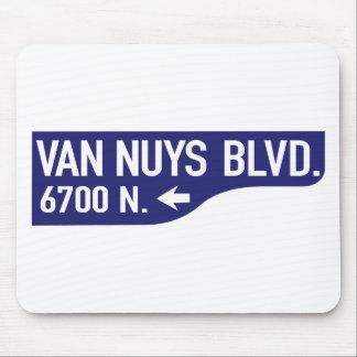 Bulevar de Van Nuys, Los Ángeles, placa de calle Alfombrilla De Ratones