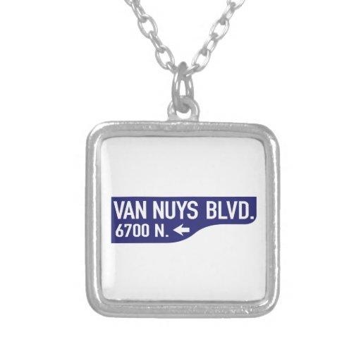 Bulevar de Van Nuys, Los Ángeles, placa de calle Colgante Cuadrado