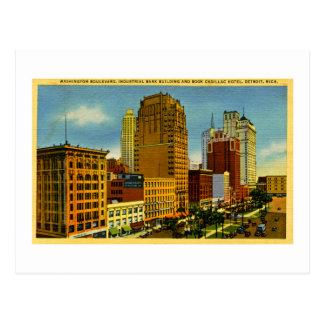 Bulevar de Washington, Detroit, Michigan Tarjeta Postal