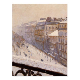 Bulevar Haussmann en la nieve de Gustavo Tarjetas Postales