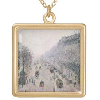 Bulevar Montmartre, 1897 (aceite en lona) Colgante Cuadrado