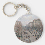 Bulevar Montmartre - París - Camille Pissarro Llavero Redondo Tipo Pin