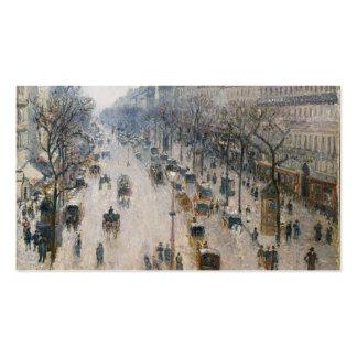 Bulevar Montmartre - París - Camille Pissarro Plantillas De Tarjetas De Visita