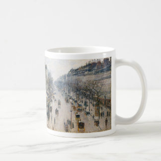 Bulevar Montmartre - París - Camille Pissarro Taza Básica Blanca