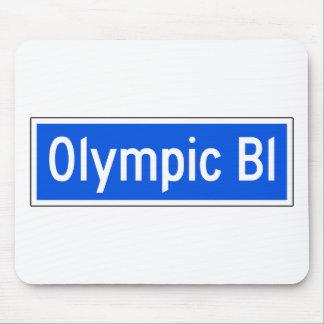 Bulevar olímpico, Los Ángeles, placa de calle de Mouse Pads