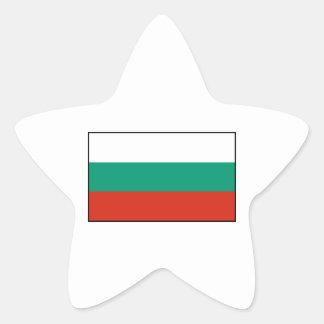 Bulgaria - bandera búlgara pegatina en forma de estrella