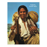 Bulgaria, basket seller postcards