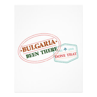 Bulgaria Been There Done That Letterhead