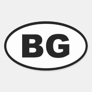 Bulgaria - BG - europeo Calcomanías De Ovales Personalizadas