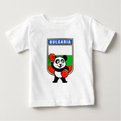 Baby Fine Jersey T-Shirt with Bulgaria Boxing Panda design