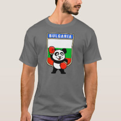 Men's Basic Dark T-Shirt with Bulgaria Boxing Panda design